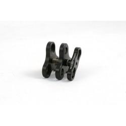 Triple clip aluminium - pour boules Carbonarm 25mm - 1 pouce Pince Triple CP/3