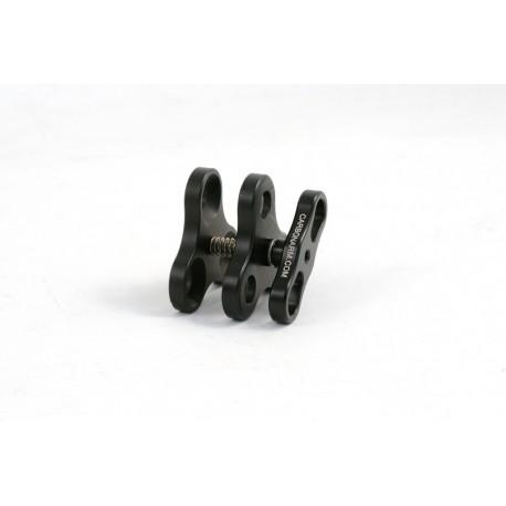 Clip Tripla in Alluminio, per sfere 25 mm 1 inch Carbonarm Clip Blocca Sfere Tripla CP/3