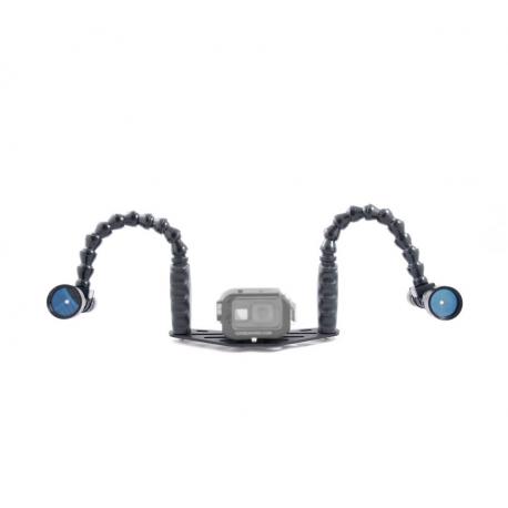 Kit caisson GoPRO Double Flex 1000 Lumen - Carbonarm Kit Boîtier GoPRO - Double Flex 1000 Lumen KIT/GOPRO/CREE2