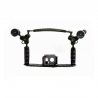 Bracket with Double Grip, Handle and Lights