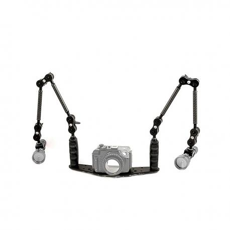 32 cm Schienen Kit SLIM Arme für Unterwasserfotografie SET: 32cm Schiene mit SLIM Blitzarmen SFF/BRA/MN2/SL