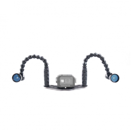 Schiene 25 mit Flexarmen - Carbonarm Set: 25 cm Schiene mit 2x 35 cm Flex Arm SFF/BRA25/FLEX25
