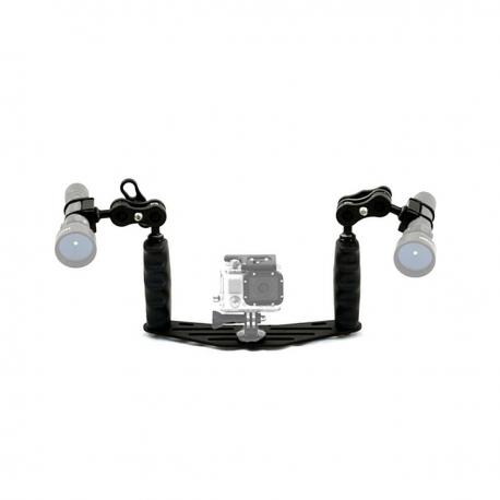 Kit staffa 25 supporti in alluminio uso subacqueo Carbonarm Kit staffa 25 con supporti luci SFF/BRA25/MN2/LUC